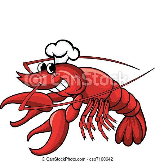 Smiling crayfish chef - csp7100642