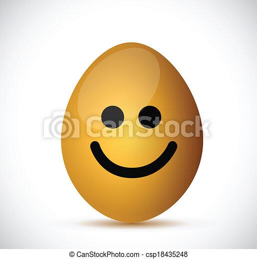 smiling egg illustration design - csp18435248