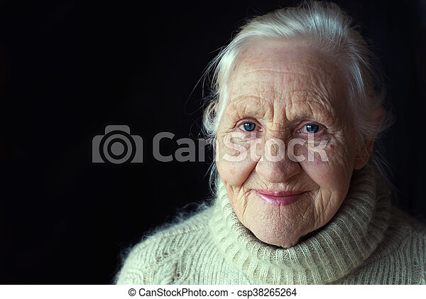 Smiling elderly woman - csp38265264