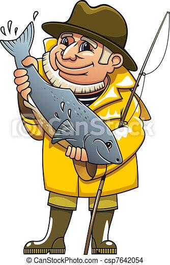 Smiling fisherman - csp7642054
