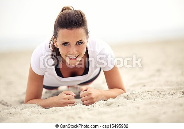 Smiling Fitness Woman - csp15495982