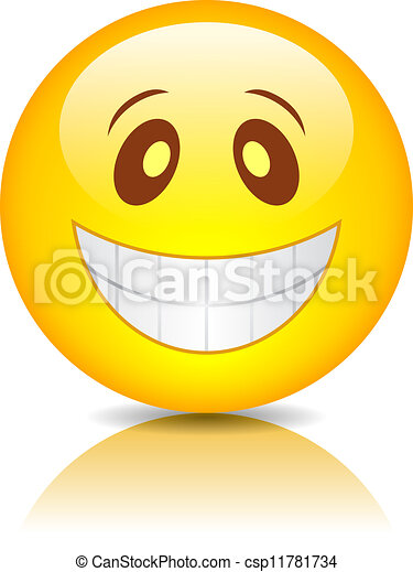 Smiling funny face - csp11781734