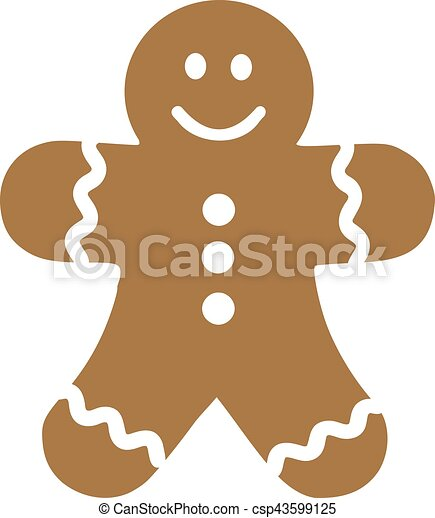 smiling gingerbread man vector illustration search clipart rh canstockphoto com gingerbread man border clipart gingerbread man border clipart