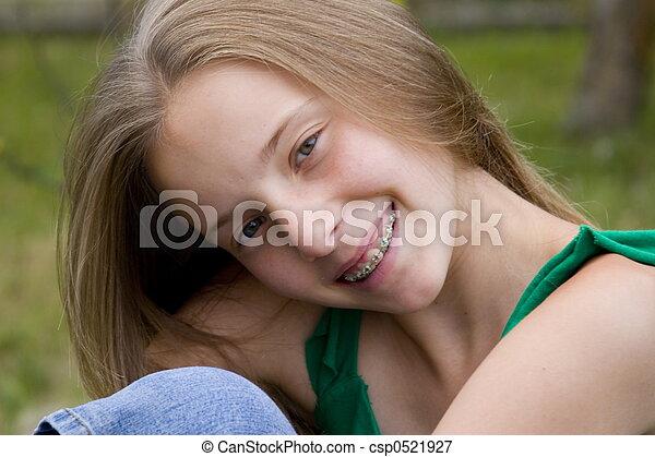 Smiling girl - csp0521927
