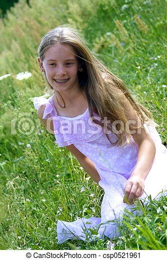 Smiling girl - csp0521961