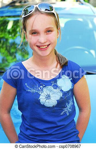 Smiling girl - csp0708967