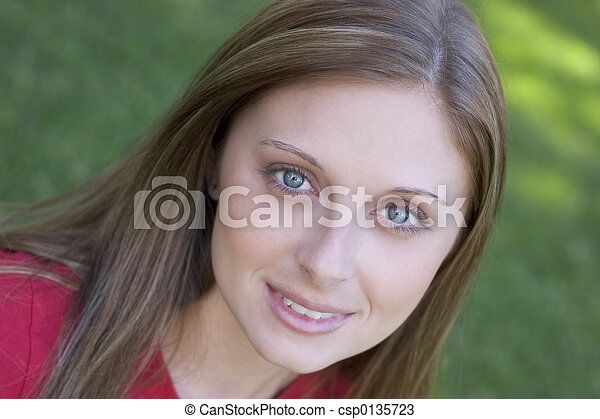 Smiling Girl - csp0135723