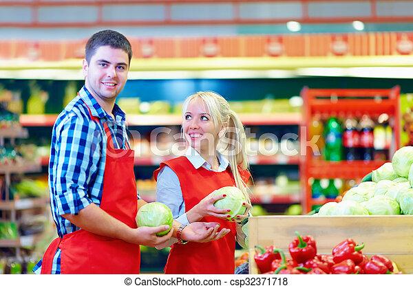 Supermarket staff