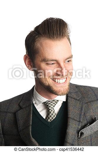 Smiling handsome businessman - csp41536442