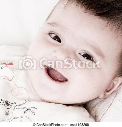 Smiling happy baby - csp1198298