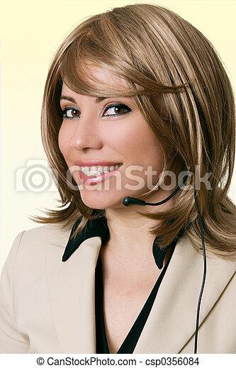 Smiling Help Desk Personnel - csp0356084