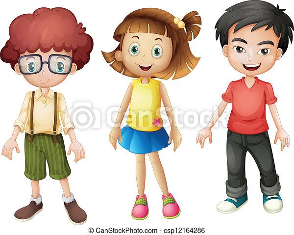 Smiling kids - csp12164286
