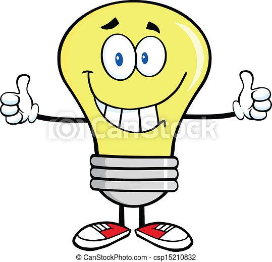 Smiling Light Bulb  - csp15210832