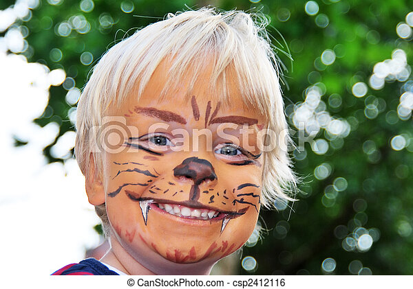 Smiling lion - csp2412116