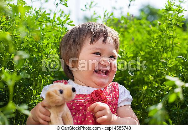 smiling little girl - csp14585740