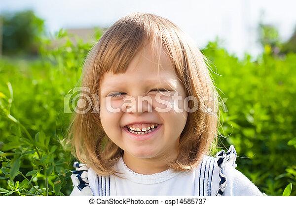 smiling little girl - csp14585737