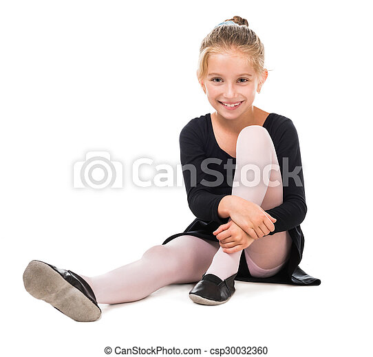 b61703f8a Smiling little gymnast girl . Smiling little gymnast on the floor ...