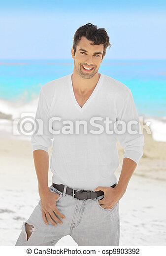 Smiling male model - csp9903392