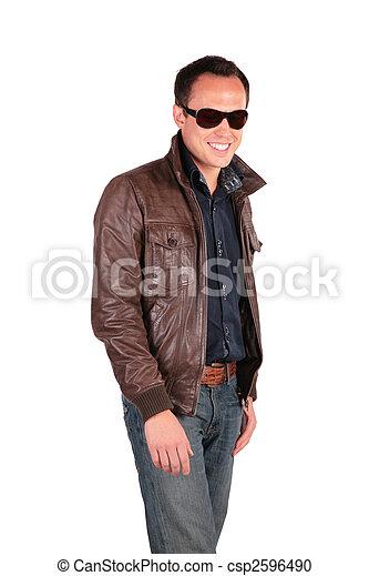 smiling man in sunglasses - csp2596490