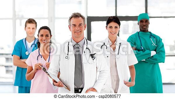 Smiling Medical team looking at the camera - csp2080577