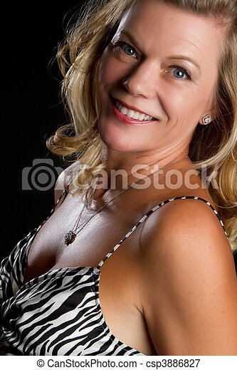 Smiling Middle Aged Woman - csp3886827