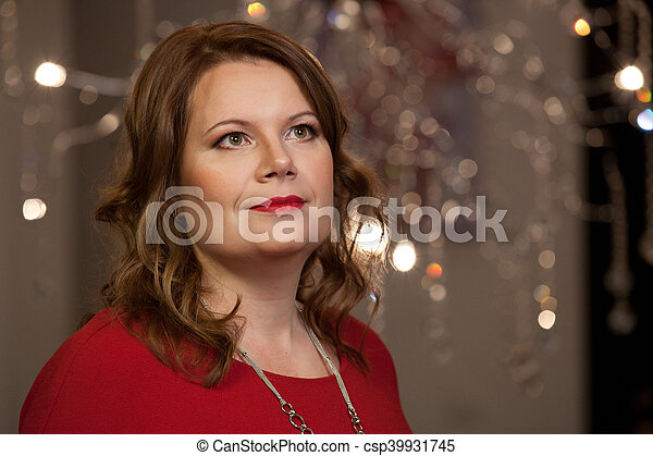 Smiling middle aged woman. - csp39931745