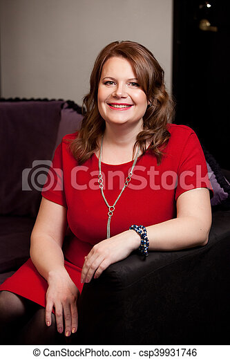 Smiling middle aged woman. - csp39931746