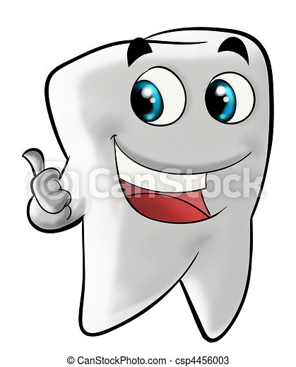 Smiling molar tooth - csp4456003