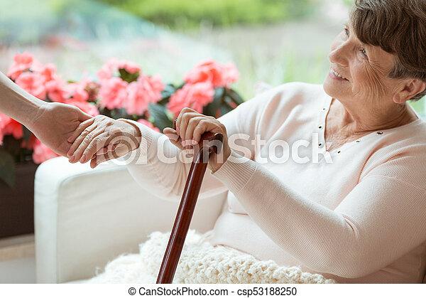 Smiling old woman - csp53188250