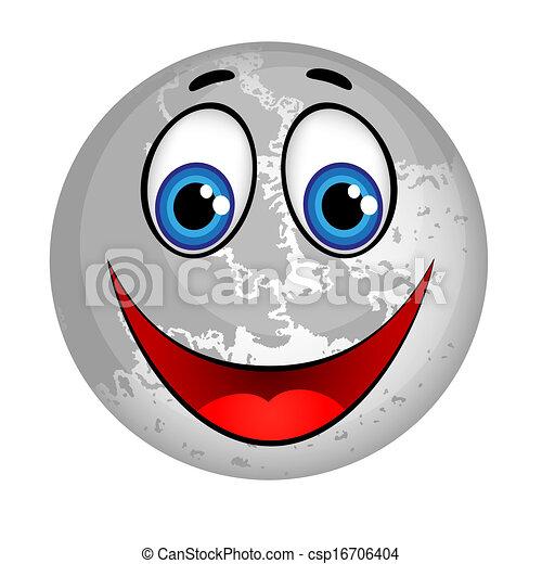 Smiling Planet Moon 16706404 on Cartoon Astronaut Clip Art