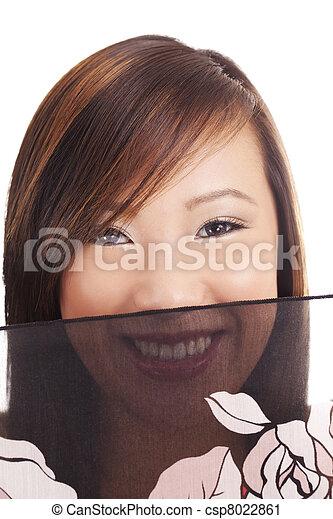Smiling Portrait Young  Asian  Veil - csp8022861