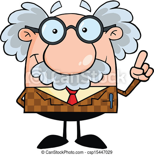 Smiling Professor With An Idea - csp15447029