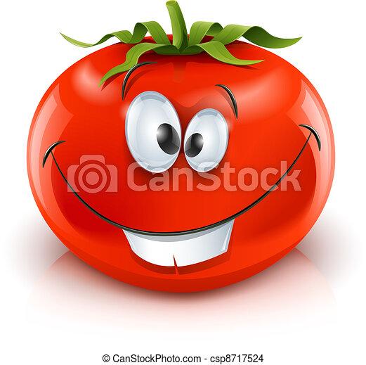 smiling red ripe tomato - csp8717524