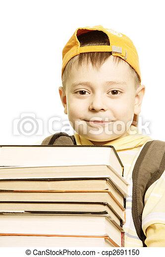 Smiling schoolboy - csp2691150