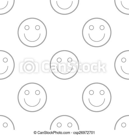 Smiling seamless pattern - csp26972701