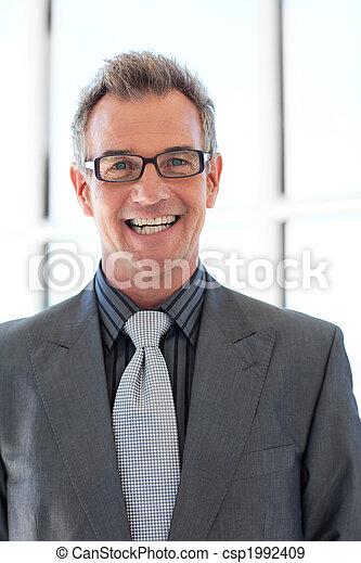 Smiling senior businessman  - csp1992409