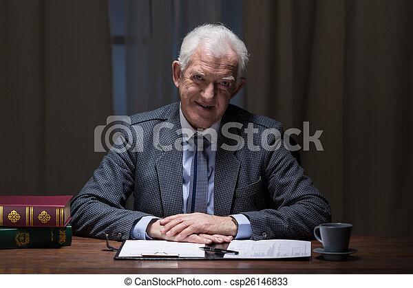 Smiling senior businessman - csp26146833