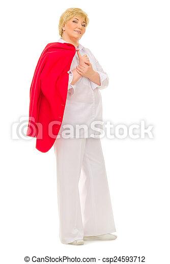 Smiling senior woman - csp24593712