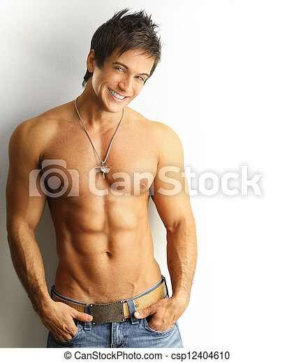 Smiling sexy male - csp12404610