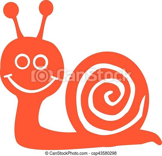 Smiling snail in orange - csp43580298