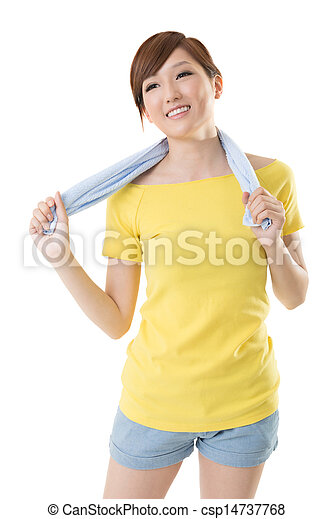 Smiling sporty woman - csp14737768