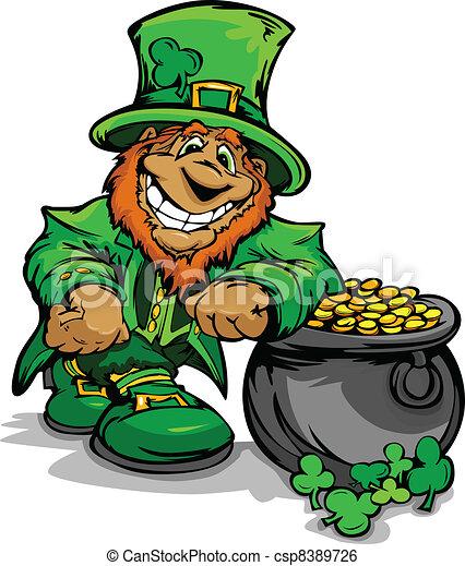 Smiling St. Patricks Day Leprechaun - csp8389726