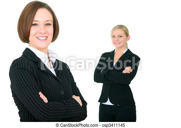 Smiling Successful Businessteam - csp3411145