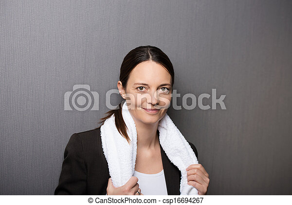 Smiling successful businesswoman - csp16694267