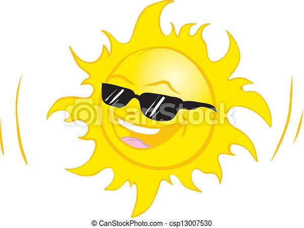 smiling summer sun - csp13007530