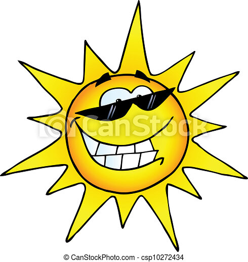 smiling sun cartoon character with sunglasses vectors search clip rh canstockphoto com smiling sun clip art images