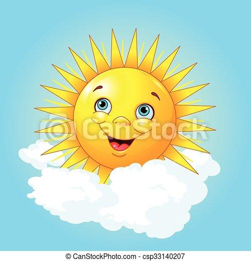 Smiling sun - csp33140207