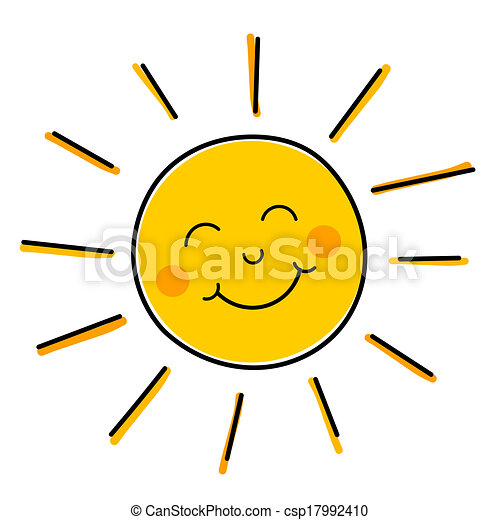 smiling sun vector drawing of happy smiling sun vector illustration rh canstockphoto com Cute Sun Clip Art free clipart smiling sun