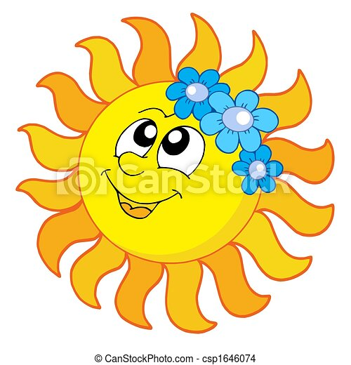 smiling sun with flowers isolated illustration drawing search rh canstockphoto com free clipart happy sunday
