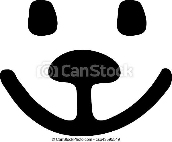 Smiling teddy bear face - csp43595549